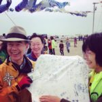 青い鯉のぼりプロジェクトのお手伝いをしました。(宮城県東松島市)