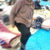 気仙沼の避難所でひざが曲がるようになったおばあちゃん