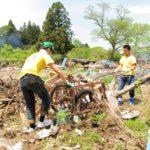陸前高田での瓦礫撤去作業を行いました