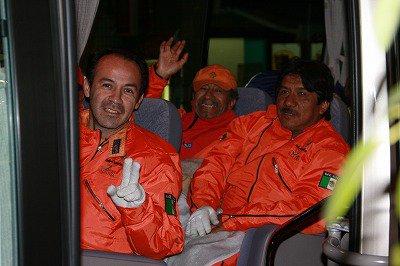 メキシコの救援隊が気仙沼で捜索活動を援助